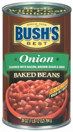 Bushs Best Onion Baked Beans, 28 oz