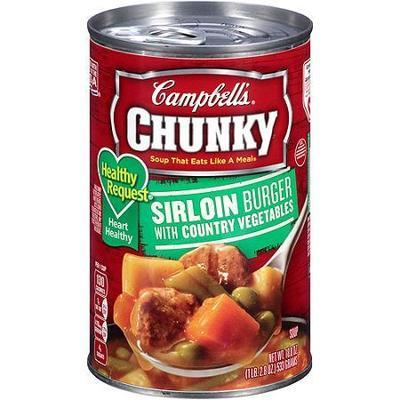 Campbell's Sirloin Burger w/Country Vegetables Healthy Request Chunky Soup, 18.8 Oz