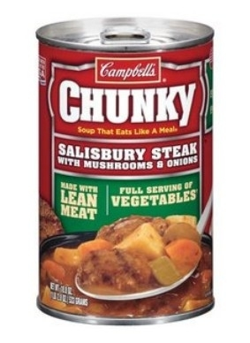 Campbell's Chunky Chunky Salisbury Steak w/Mushrooms & Onions Soup, 18.80 oz