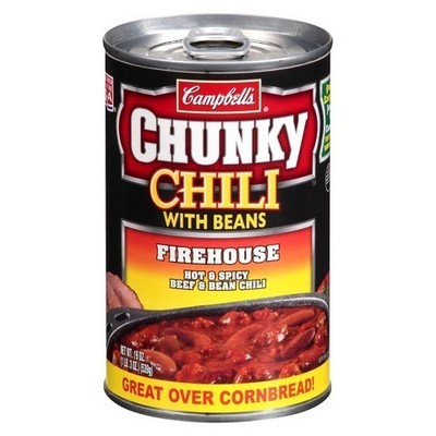 Campbell's: Firehouse! Hot & Spicy Beef & Bean Chunky Chili, 19 Oz