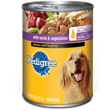 Pedigree With Lamb & Vegetables Choice Cuts In Gravy, 22 oz