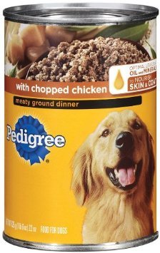 Pedigree With Chopped Beef Meaty Ground Dinner, 22 oz