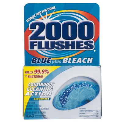2000 flushes Blue - toilet bowl cleaner