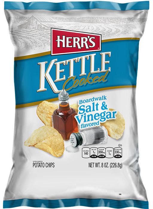 Herr's Salt & Vinegar Chips - Kettle Cooked