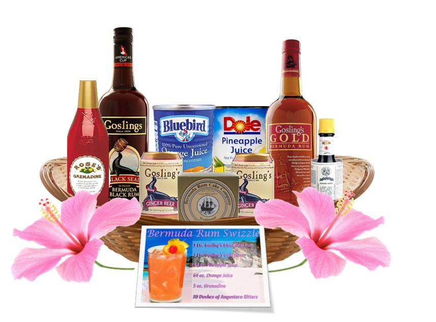 Bermuda Rum Swizzle Basket