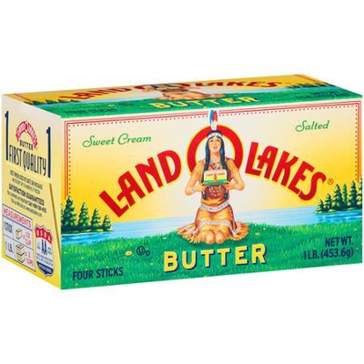 Land O Lakes Sweet Cream Salted Butter, Four Sticks, 1 lb