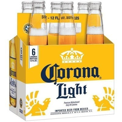 Corona - Light (6 pack 12oz bottles)