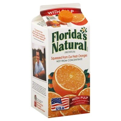 Floridas Natural 100% Juice, Orange, with Pulp
