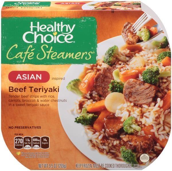 Healthy Choice Cafe Steamers Beef Teriyaki,9.5 oz