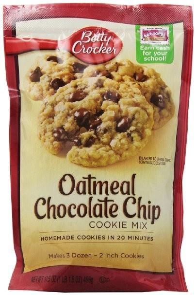 Betty Crocker Cookie Mix,Oatmeal Chocolate Chip, 17.5 oz.