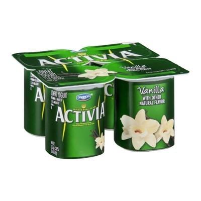 Activia Vanilla Lowfat Yogurt, 4ct