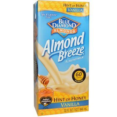 Blue Diamond, Almond Breeze, Milk, Hint of Honey, Vanilla, 32 fl oz (946 ml