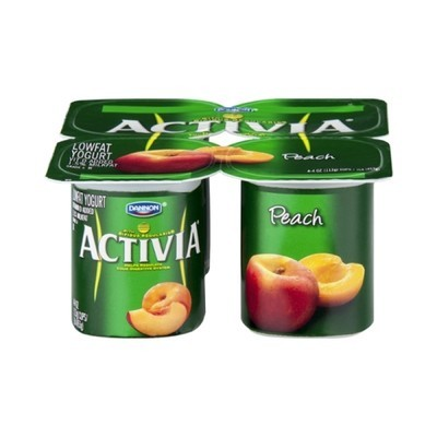 Activia Peach Lowfat Yogurt, 4ct