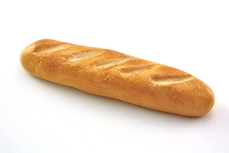 Fresh French baguette bread
