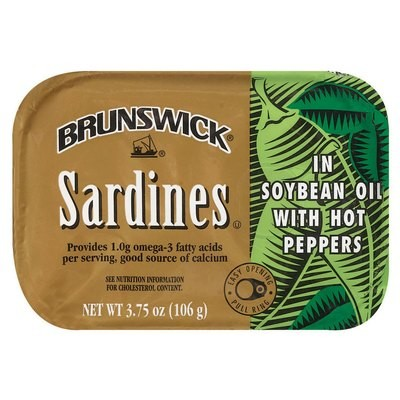 Brunswick In Soybean Oil W/Hot Peppers Sardines, 3.75 oz