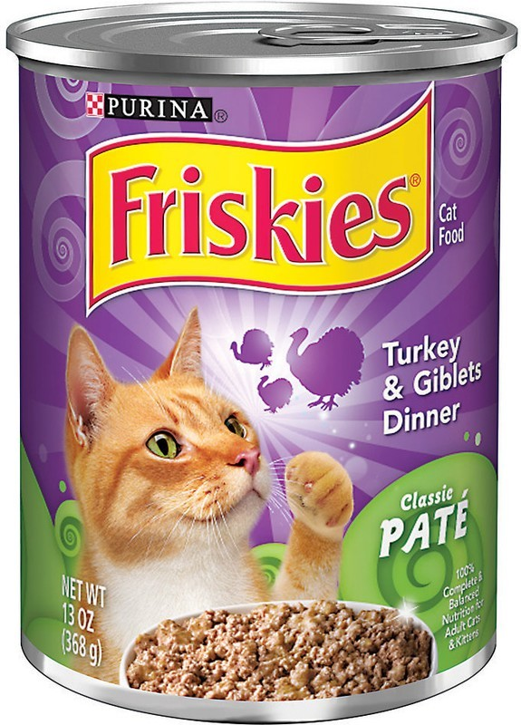 Friskies Wet Turkey And Giblets Dinner Cat Food, 13 oz