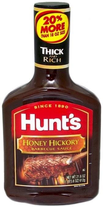 Hunt's Honey Hickory Barbecue Sauce 18 oz