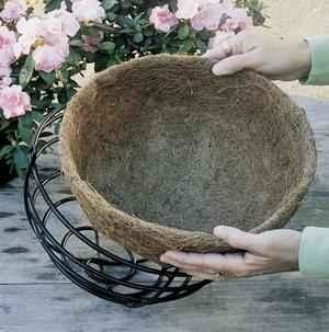 Coco Liners for Wrought Iron Hanging Baskets