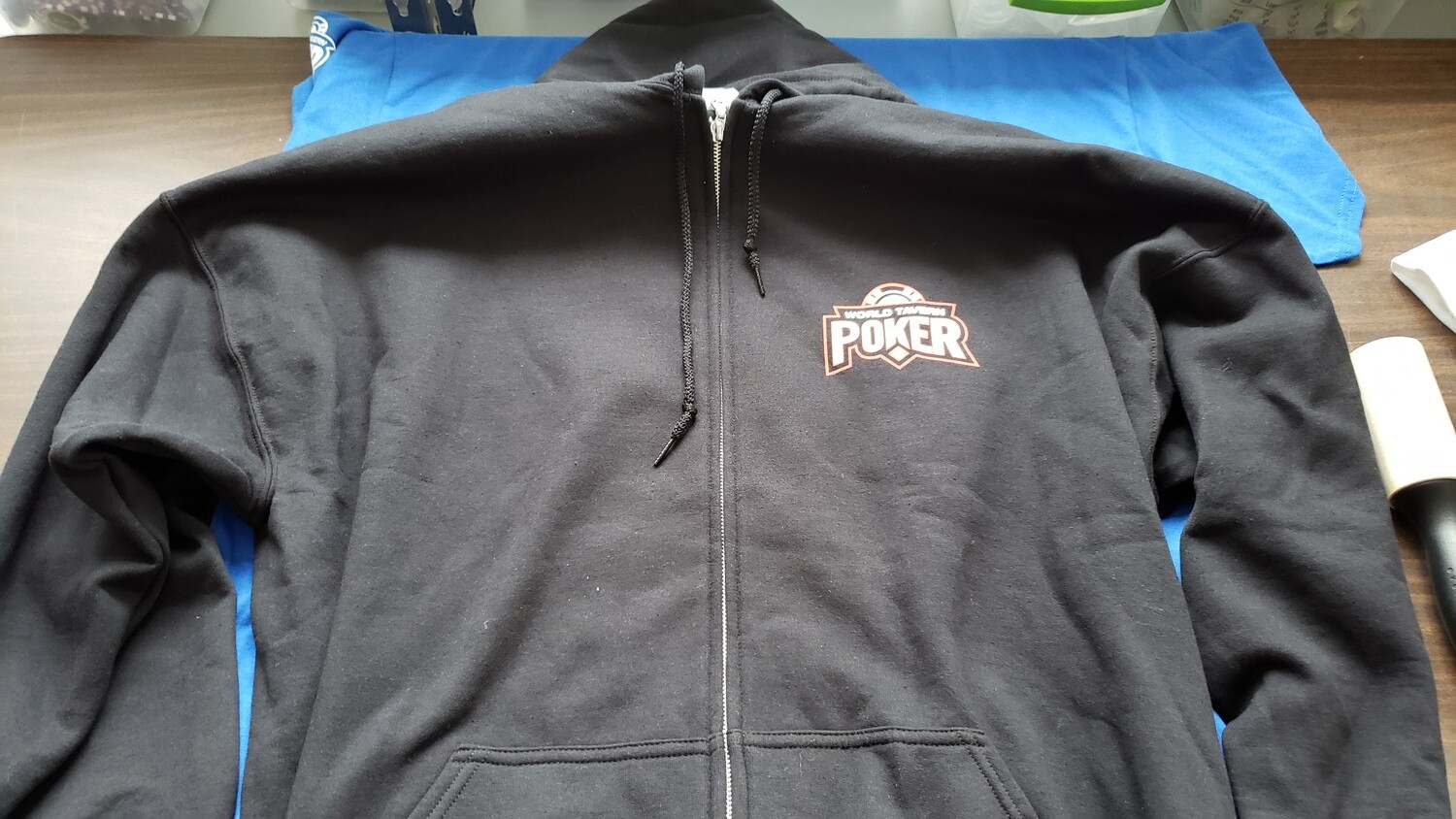 WTP Black Zip-Up Hoodie