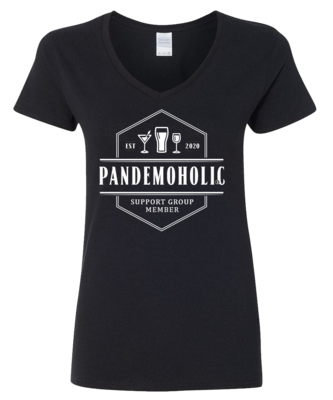 Limited Edition Women's Pandemoholic V-Neck Tee