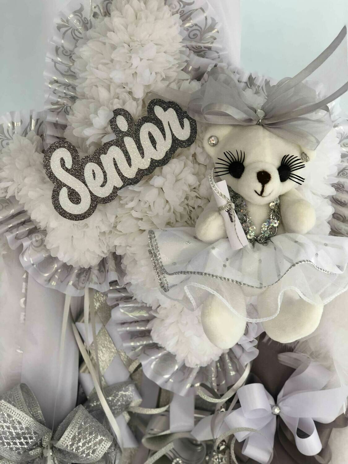Texas shaped Homecoming Mum- School colors OR Senior- Custom
