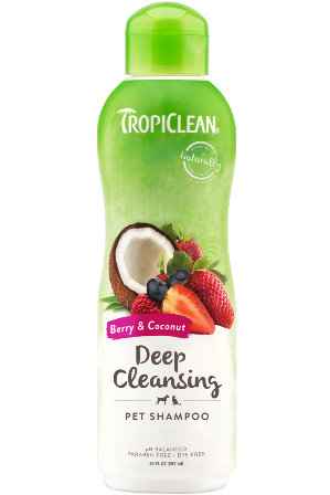 Tropiclean : Berry & Coconut Deep Cleaning Shampoo 20oz