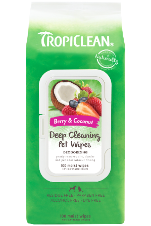 Tropiclean : Deep Cleaning Wipes for Pets 100ct