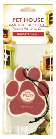 One Fur All : Car Air Freshener - Holidays Fur All