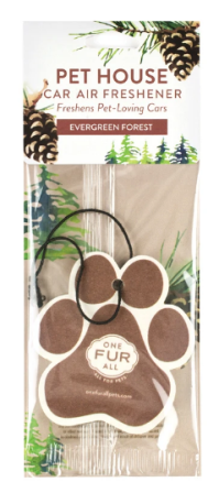 One Fur All : Car Air Freshener - Evergreen Forest