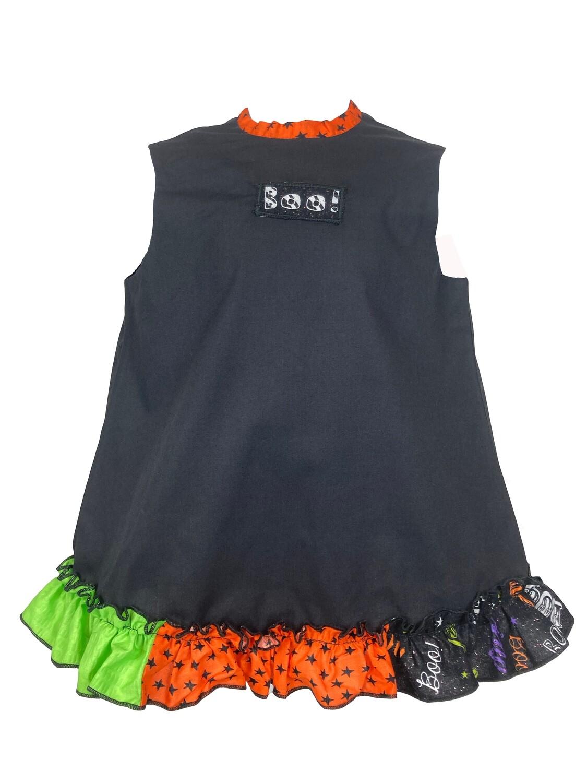 Halloween A-Line Black Ruffle Dress