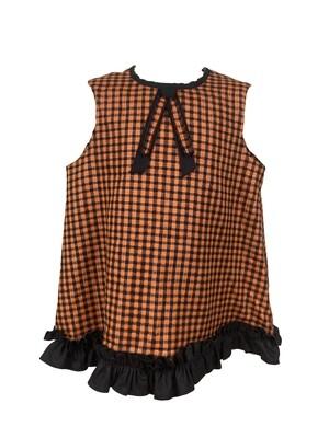Seasonal A-Line Orange & Black Dress