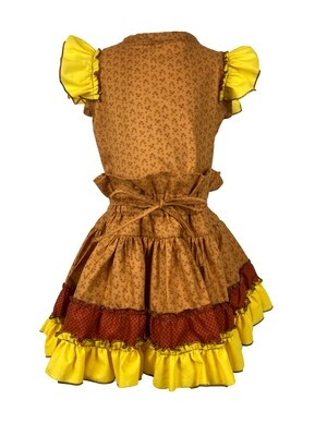 Fall Two Piece Top and Shirt (Yellow Sleeves)