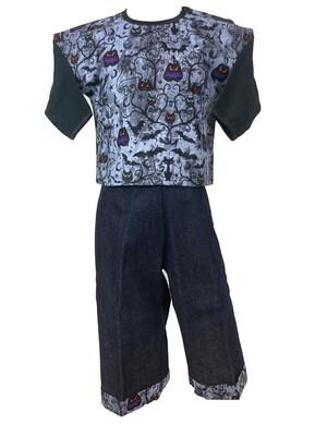 Halloween Two Piece Boy Top and Denim Pants