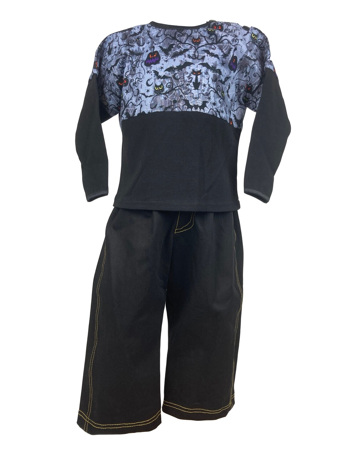 Halloween Two Piece Boy Long Sleeve Top and Denim Pants (18-24 Months)