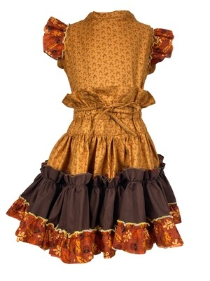 Fall Two Piece Top and Skirt (Leaf Sleeves) 4T