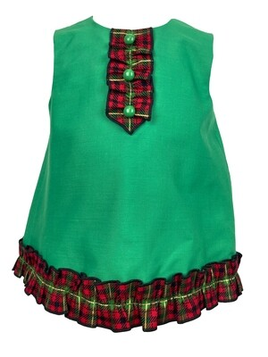 A Simple Holiday Green Dress