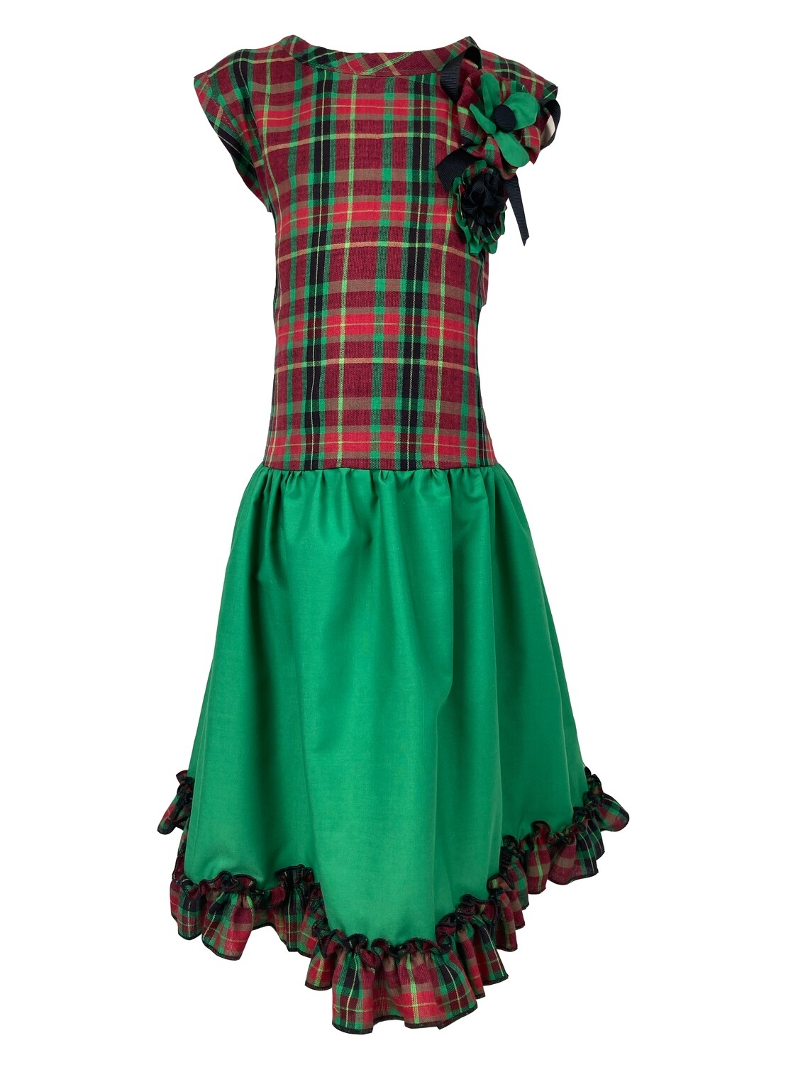 Holiday Plaid Dress (Size 8)