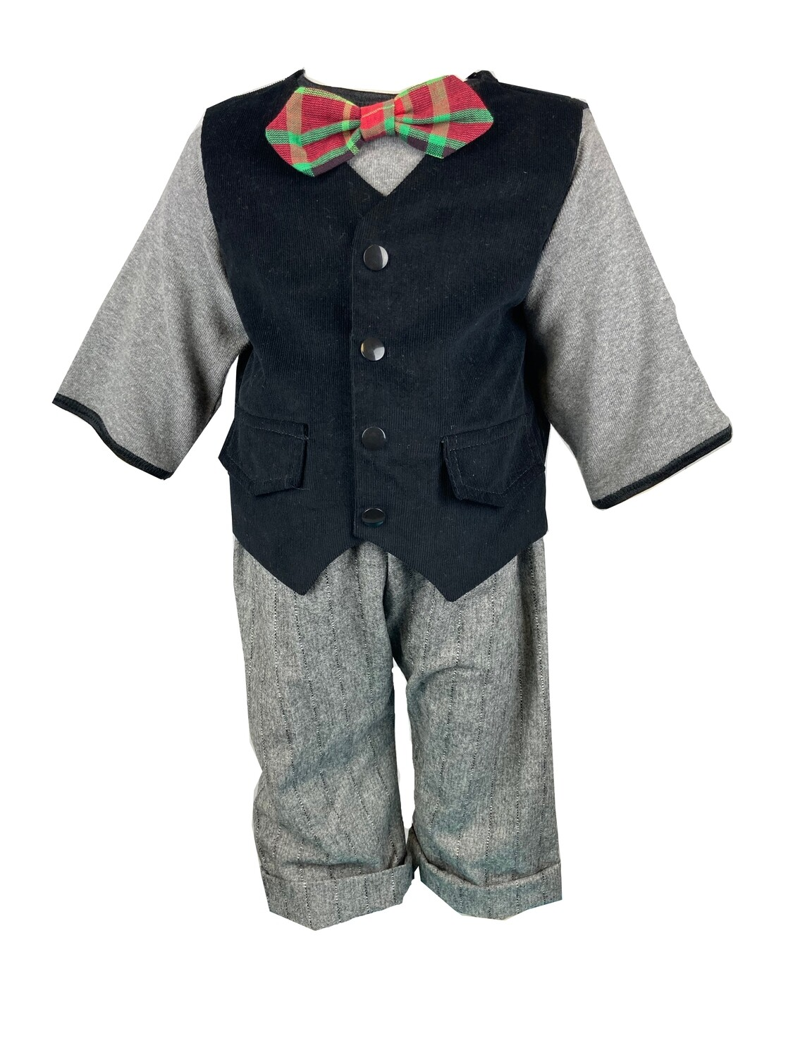 Boy Grey and Black Holiday Outfit