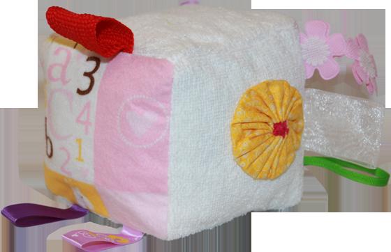 White Plush Blocks (Girl)