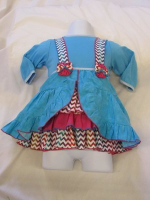 Turquoise and Pink Dress (girl)