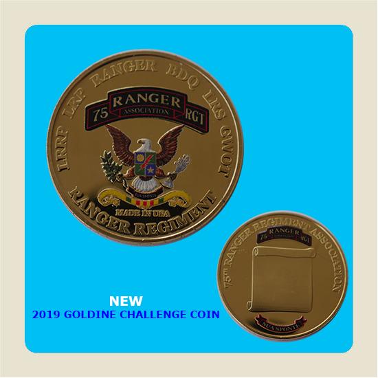 """2019 """"Goldine"""" Challenge Coin"""