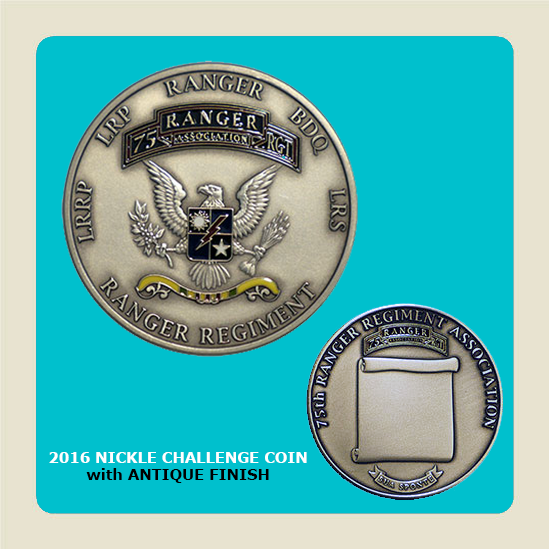 2016 Nickle Challenge Coin w/Antique finish