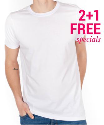 2+1 FREE - White T-Shirts