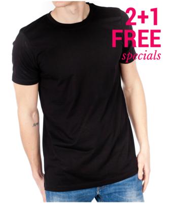 2+1 FREE - Black T-Shirts