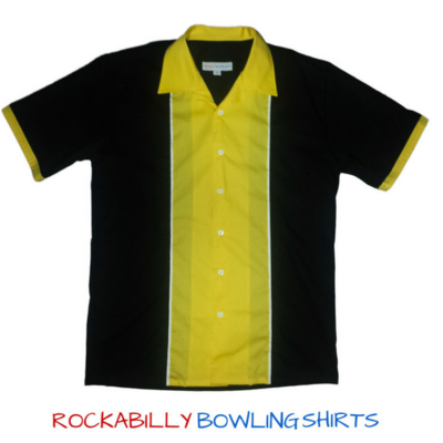 50s Retro Shirt Johnny (Black-Yellow)
