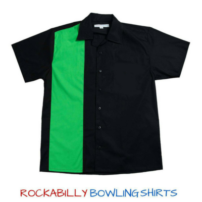 Men's Rockabilly Bowling Shirt DAVID (Green)