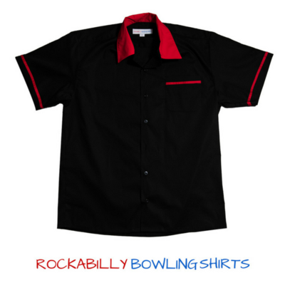 Retro Bowling Shirt King pin Paulie (Red)