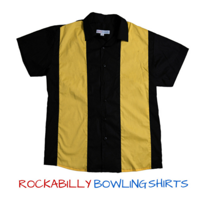 Retro Bowling Shirt RICHARD (Yellow)