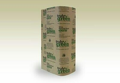Truly Green White Multifold Towel