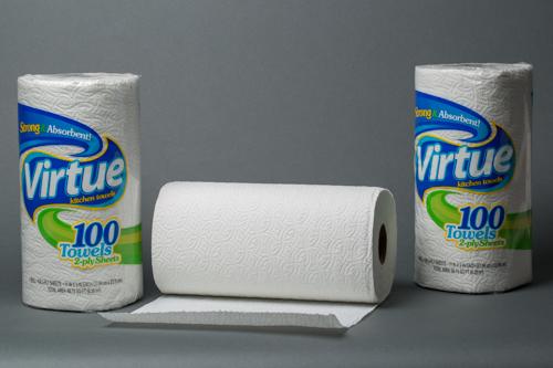 Virtue White Kitchen Roll Towel